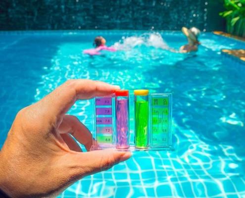 Calcolo del dosaggio dei prodotti chimici per piscine